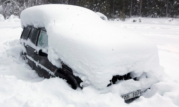 Man survives two months in snow covered car